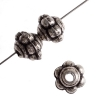 Metalized Bead with Sterling Silver coating 4mm Spacer